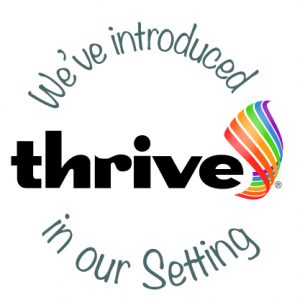 Thrive introduced-setting logo